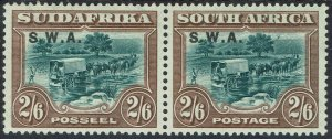 SOUTH WEST AFRICA 1927 OX WAGON 2/6 PAIR