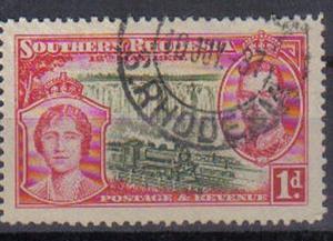 SOUTHERN RHODESIA, 1937, used 1d. Coronation.