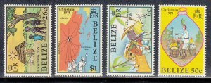 Belize Scott #370-373 MNH