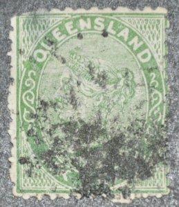 DYNAMITE Stamps: Queensland Scott #60 – USED