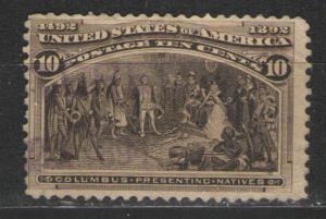 US 1893 Sc# 237 Used F - solid copy