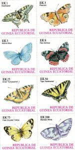 Equatorial Guinea 1977 Butterflies II  Shlt(8) Perf.MNH VF