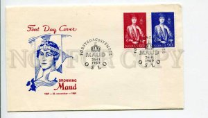 293180 NORWAY 1969 year First Day COVER dronning maud
