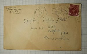 Canada DQ Levis 1946 Cover to Chicago USA Address Change Postal Marking
