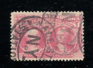 US#244a Rose Carmine - $4.00 Columbian - Wall Street Cancel