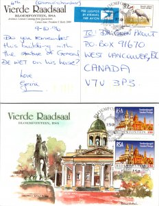 South Africa, Worldwide First Day Cover