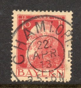Bavaria Bayern 1911 Early Issue Fine Used 10pf. NW-15087