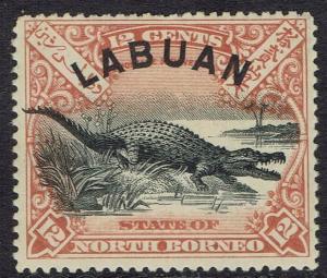 LABUAN 1897 CROCODILE 12C PERF 14.5 -15