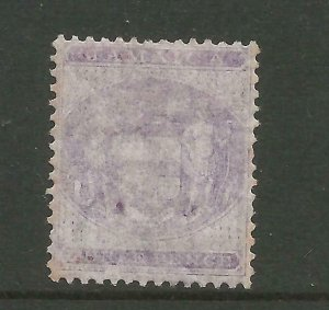 JAMAICA 1855/74 Sg F6, 3d Purple-Lilac Average M/Mint very faded. {B6-32}