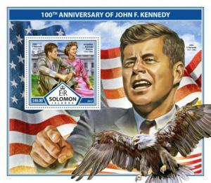 Solomon Islands - 2017 John F. Kennedy - Souvenir Sheet - SLM17306b