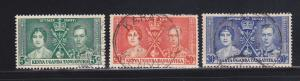 Kenya, Uganda, Tanzaniaya 60-62 Set U King George VI Coronation (B)
