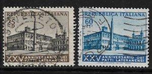 ITALY 647-648 USED LATERAN PALACE ROME