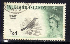 Falkland Islands 1960 - 66 QE2 1/2d Austral Thrush SG 193 ( D1374 )
