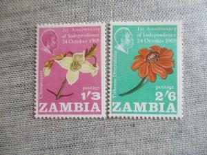 Zambia, Scott#24-25, MNH