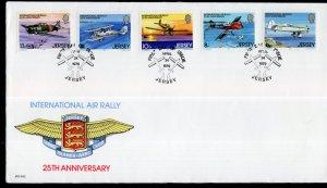 Jersey 208-212 Airplanes U/A FDC