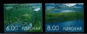 Faroe Islands Sc 401-2  2001 Europa stamp set used
