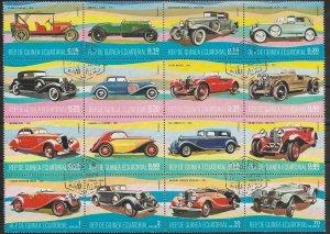 1977 Equatorial Guinea   Classic Cars   Sheet  SC#1355-1370