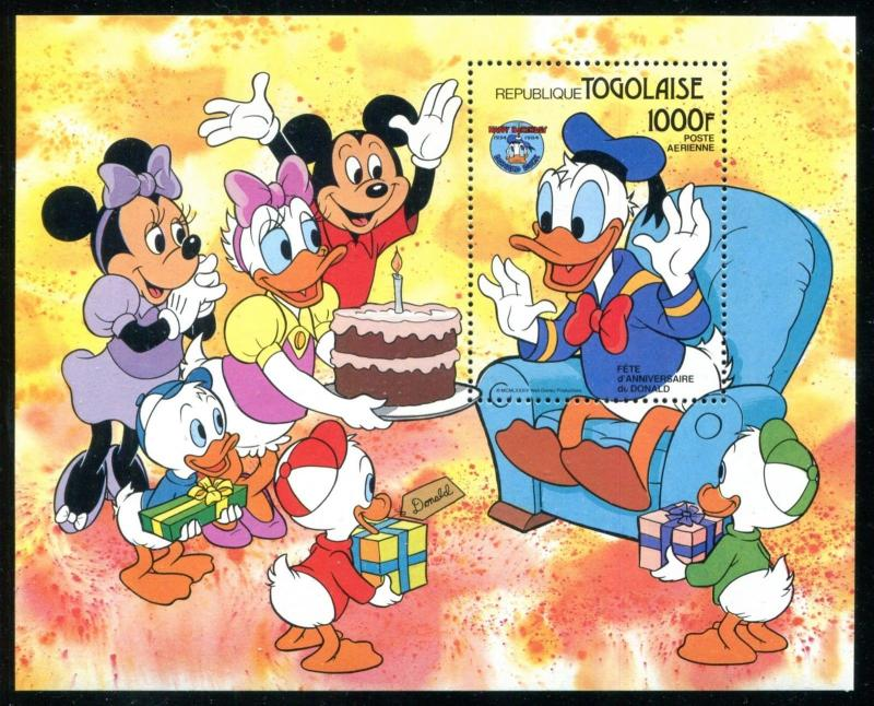 Togo 1239 Disney characters 50th Ann of Donald Duck 1984 x14666a