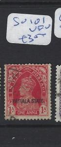 INDIA  PATIALA    (P2807B)   KGVI  1A   SG 101   VFU