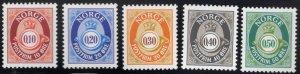 Norway Scott 1141-1145 MNH**  stamp set
