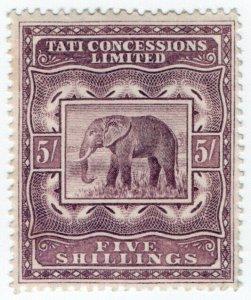 (I.B) Bechuanaland Revenue : Tati Concessions 5/-