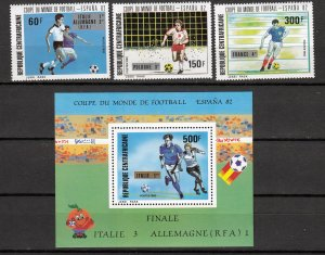 Z2919 1982 central africa rep set mh + mnh s/s #545-8 sports
