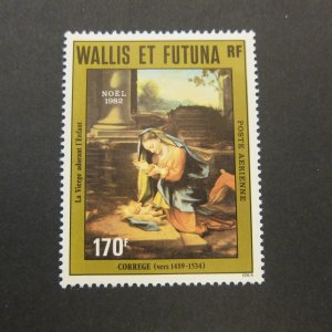 French Wallis and Futuna Islands 1982 Sc C118 Christmas Religion set MNH