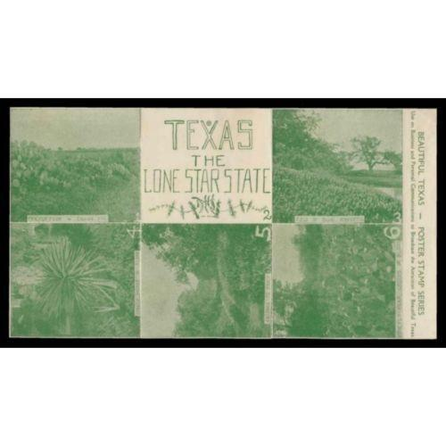 US - Beautiful Texas Tourism Promotion Poster Stamps