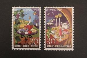 Cyprus 2005 #1037-38 MNH, CV $2.30