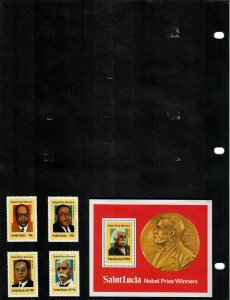 St Lucia Selection of 67 Stamps/6 Sheets MH/MNH (SCV $43.80) Starting at 5%