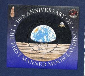 KIRIBATI - Scott 750 - FVF MNH  S/S - Moon Landing, Space - 1999