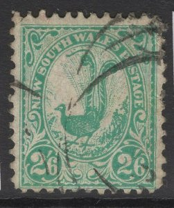 NEW SOUTH WALES SG349 1905 2/6 BLUE-GREEN p12x11½ USED