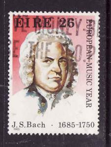 Ireland-Sc#620-used 26p Johann Sebastian Bach-Music Year-1985-