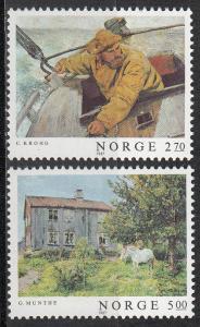 Norway 915-916 MH CV $4.25