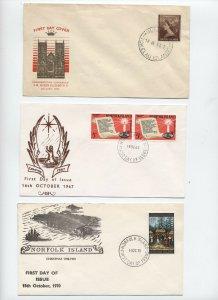 4 Norfolk Island and Tokelau Islands covers 1950s-1970 [y3021]