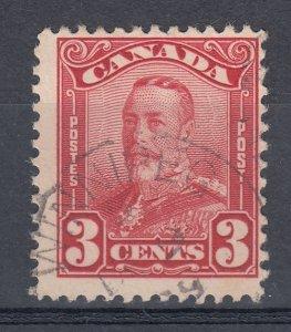 Canada Scott #151 3 cent dark carmine Scroll HCV