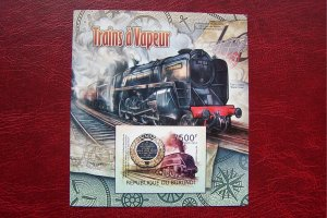 Burundi 2012 Topical Trains and Locomotives Imperf