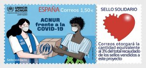 Stamps Spain 2021- UNHCR Against Covid-19 - Mint.