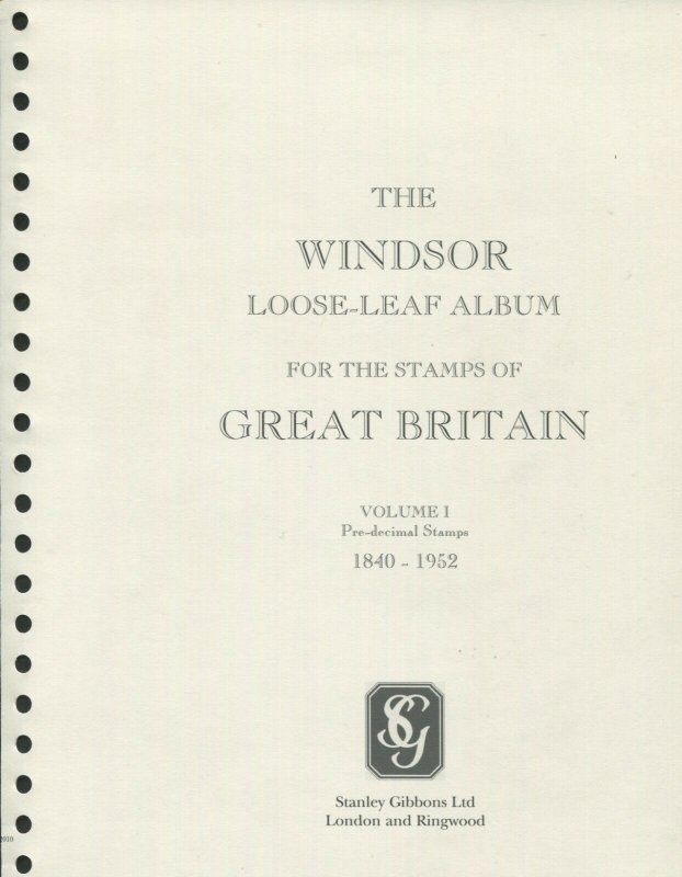 Stanley Gibbons Limited Windsor Elite Great Britain Stamp Album 6 Vol Set #R3420