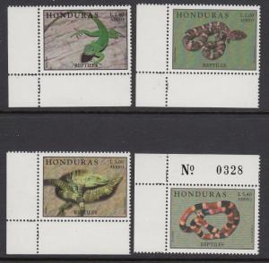 Honduras C1034-8 Reptiles mnh