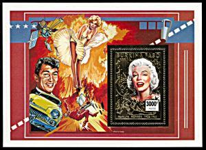 Burkina Faso 1015A, MNH, Marilyn Monroe gold foil souvenir sheet