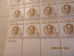 SCOTT 1110 4 CENT SIMON BOLIVAR 1959 OG