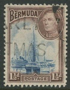Bermuda #119 KGVI Used  Scott CV. $1.50