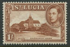 St. Lucia - Scott 121a - KGVI - Definitive -1938 - MVLH -Single 1/- Stamp