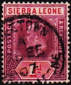 Sierra Leone. 1903 1d S.G.87 Fine Used