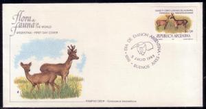 Argentina FDC SC# 1419 Pampas Deer L96