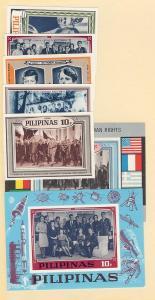 Philippines, MI#:IX-XV,Blk: I-II, J. F. Kennedy Imp.Set, MNH