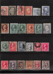 Lot of 24 U.S. Early Off Quality Used Stamps Scott Range # 65 - 225 #139168 X