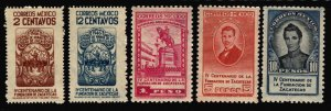 Mexico 1946 Founding of the City Zacatecas Stamp Short Set 5 Stamps Scott 820-4