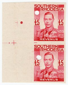(I.B-BOB) Southern Rhodesia Revenue : Duty Stamp £5 (printer's proof)